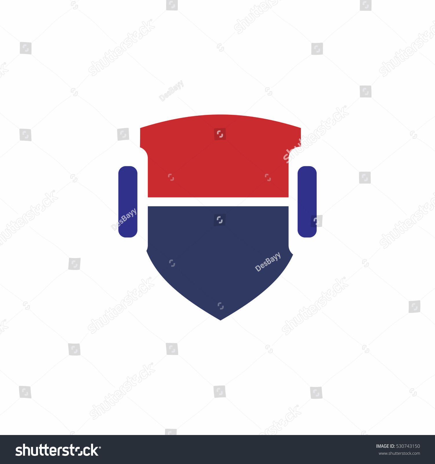 Fitness Shield Logo Logo Template Stock Vector 530743150 - Shutterstock