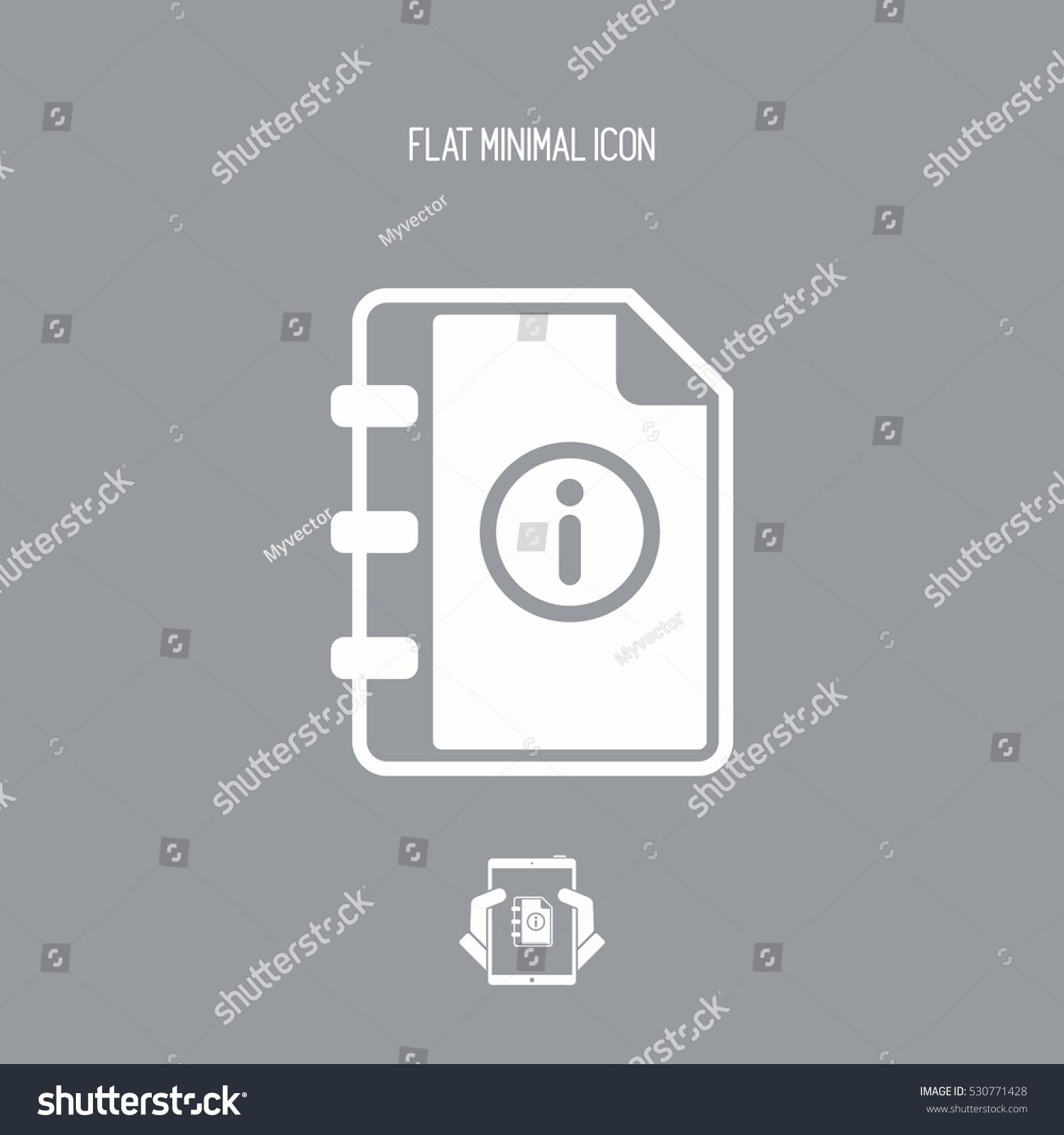 User guide book vector icon stock vector 530771428 for Vector canape user manual