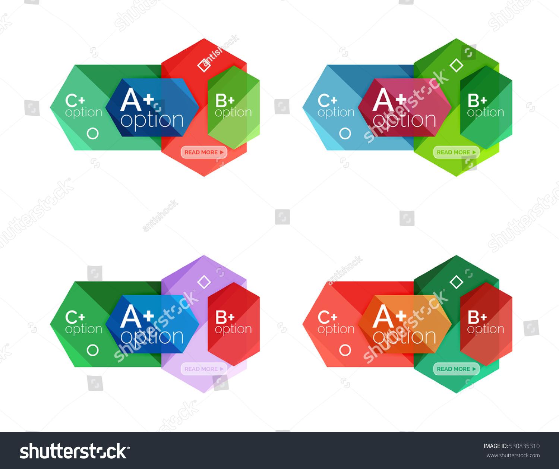 Vector Geometric Option Infographic Templates Stock Vector