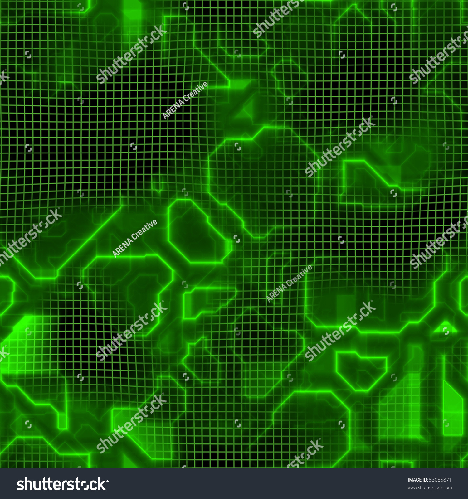 green computer circuit board circuitry texture that tiles