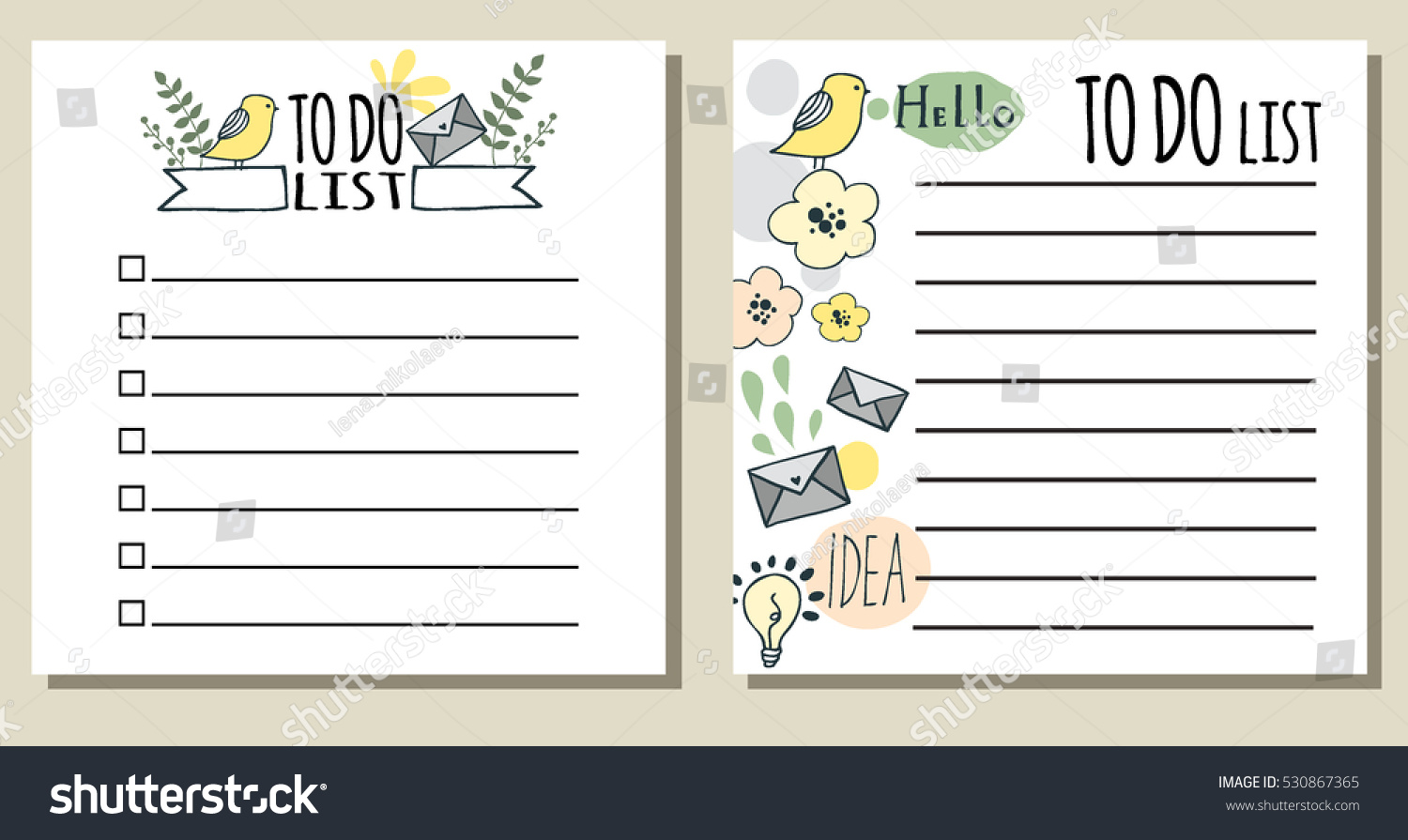 do lists printable checklist cute hand stock vector (royalty free