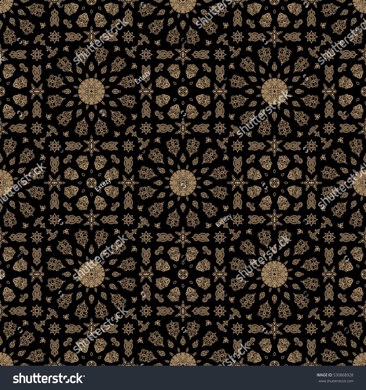 seamless islamic moroccan pattern arabic geometric stock vector