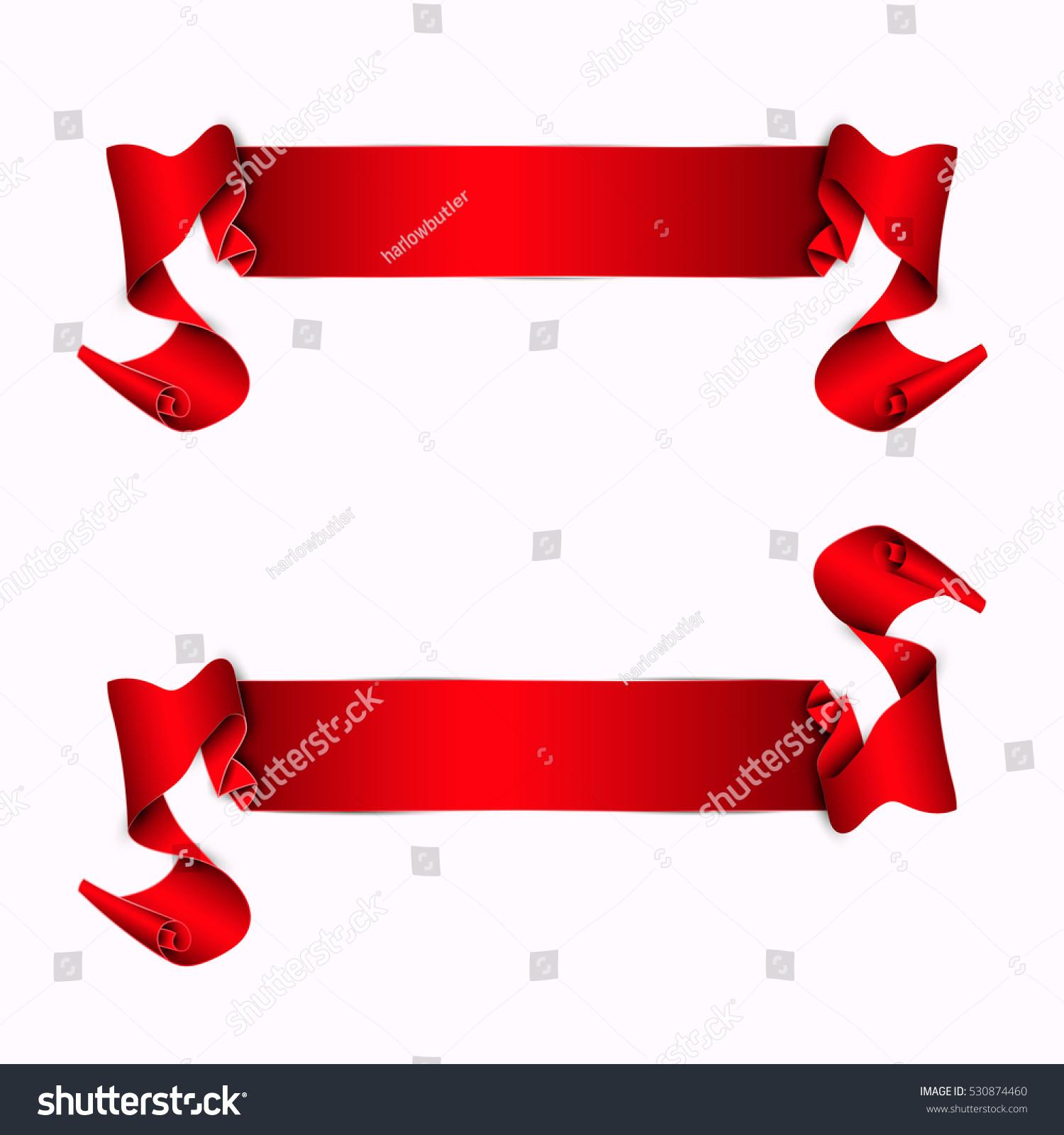 vector ribbon banner ribbon set stock vector 530874460 shutterstock rh shutterstock com vector ribbon banner black and white vector ribbon banner eps free