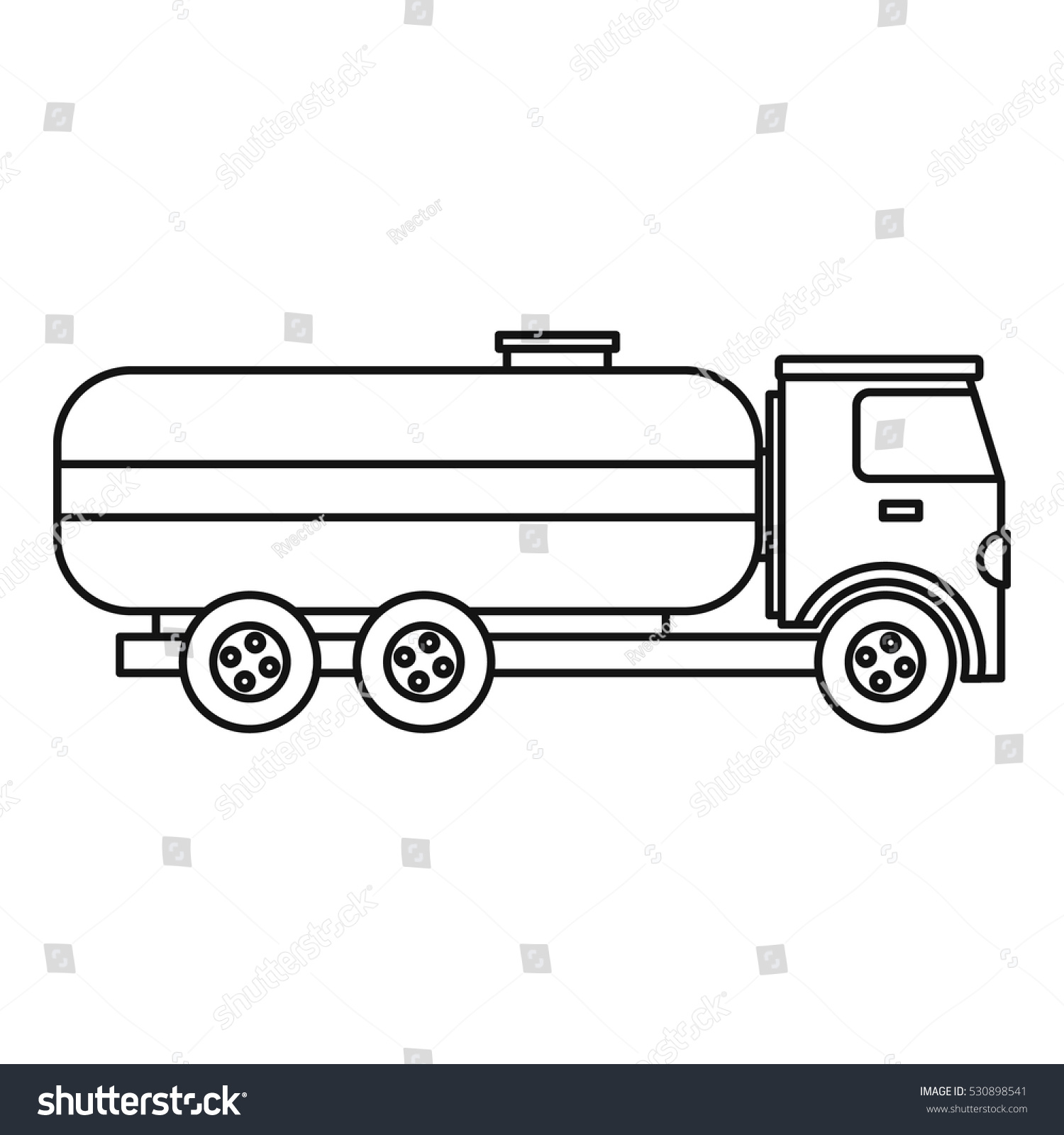 fuel tanker truck icon outline illustration stock vector 530898541