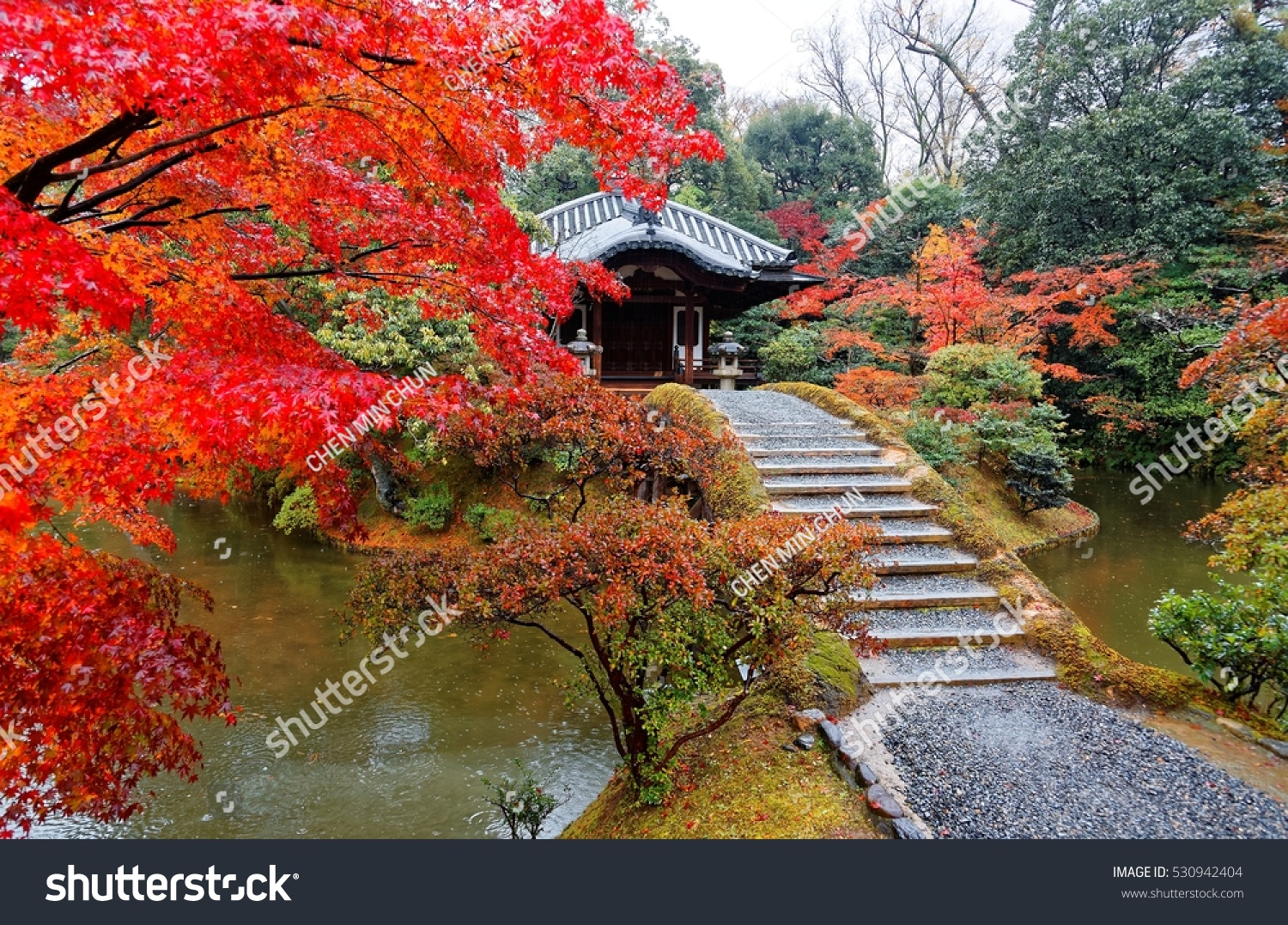 Autumn Scenery Beautiful Japanese Garden Katsura Stock Photo (Edit ...