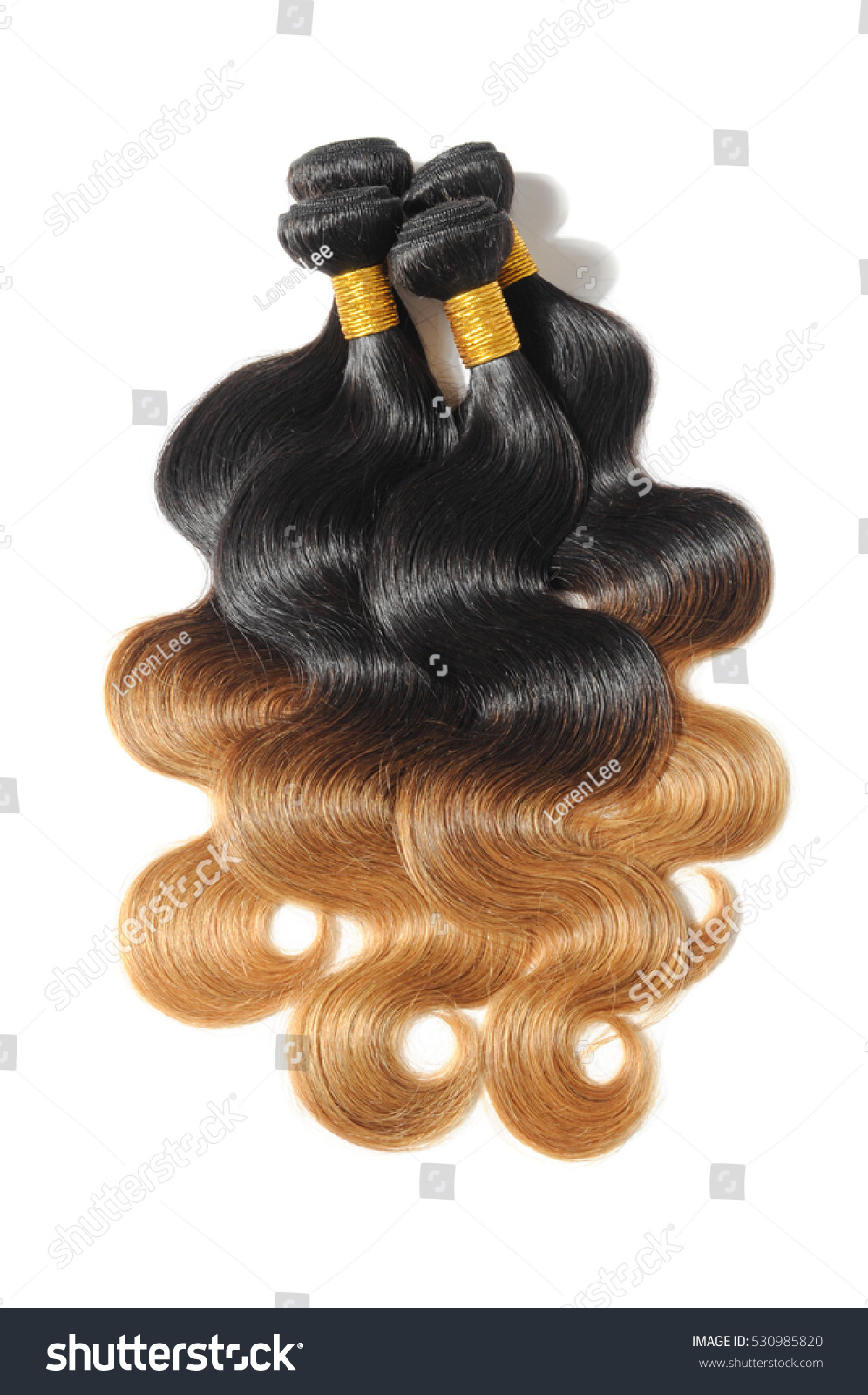 Body Wave Black Strawberry Blonde Ombre Stock Photo Royalty Free