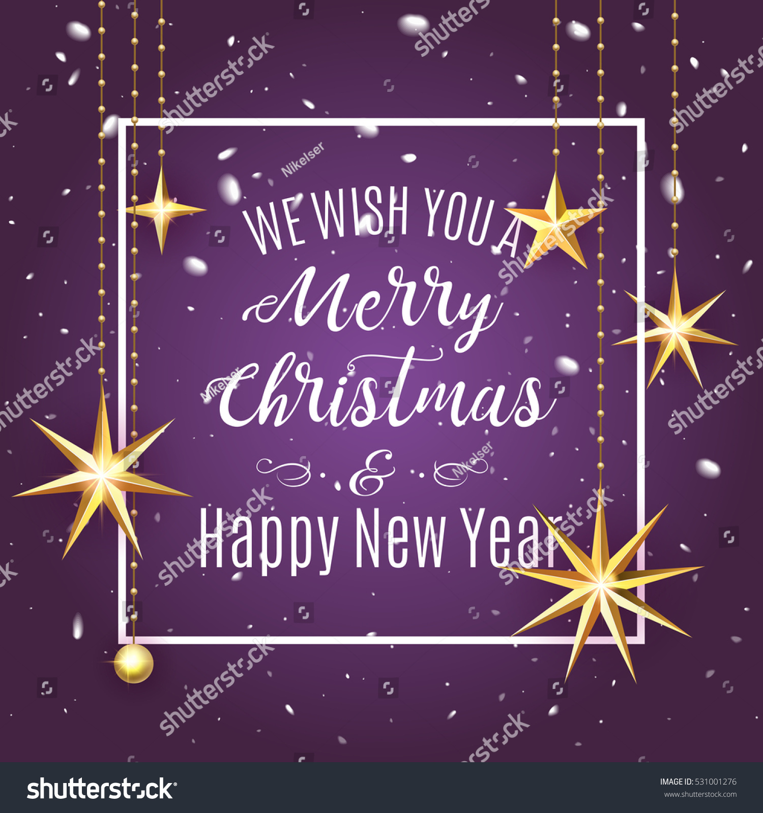 Premium Luxury Merry Christmas Holiday Greeting Stock Vector