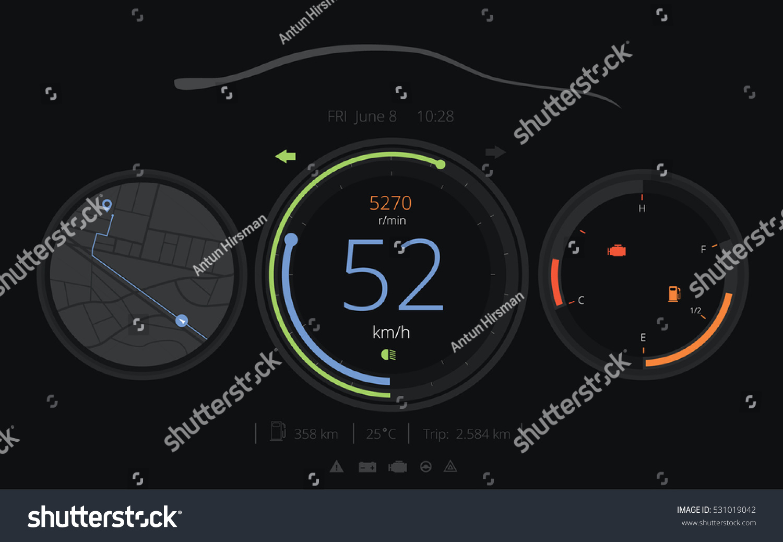 Car car hud dashboard vector stock vector 531019042 shutterstock car car hud dashboard vector buycottarizona
