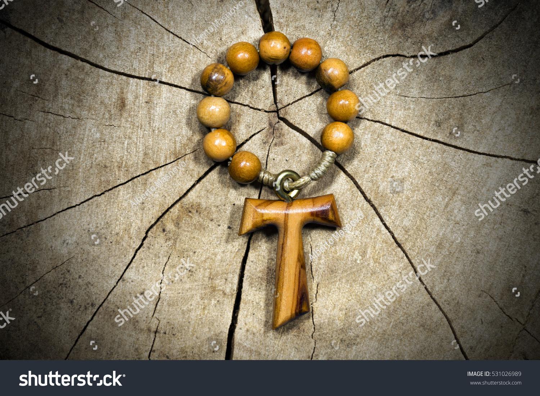 Tau Wooden Cross Shape Letter T Stock Photo Edit Now 531026989