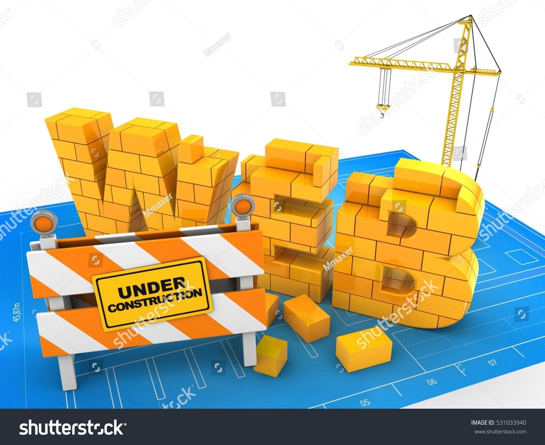 3d illustration web word over blueprint stock illustration 531033940 3d illustration of web word over blueprint background with crane malvernweather Gallery
