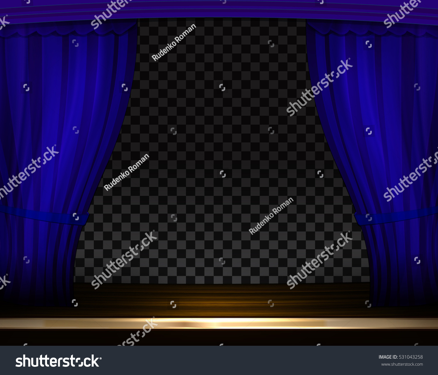 Blue curtain backdrop - Vector Blue Curtains In Theater Or Opera Dark Blue Curtain Scene Gracefully On Transparent Background
