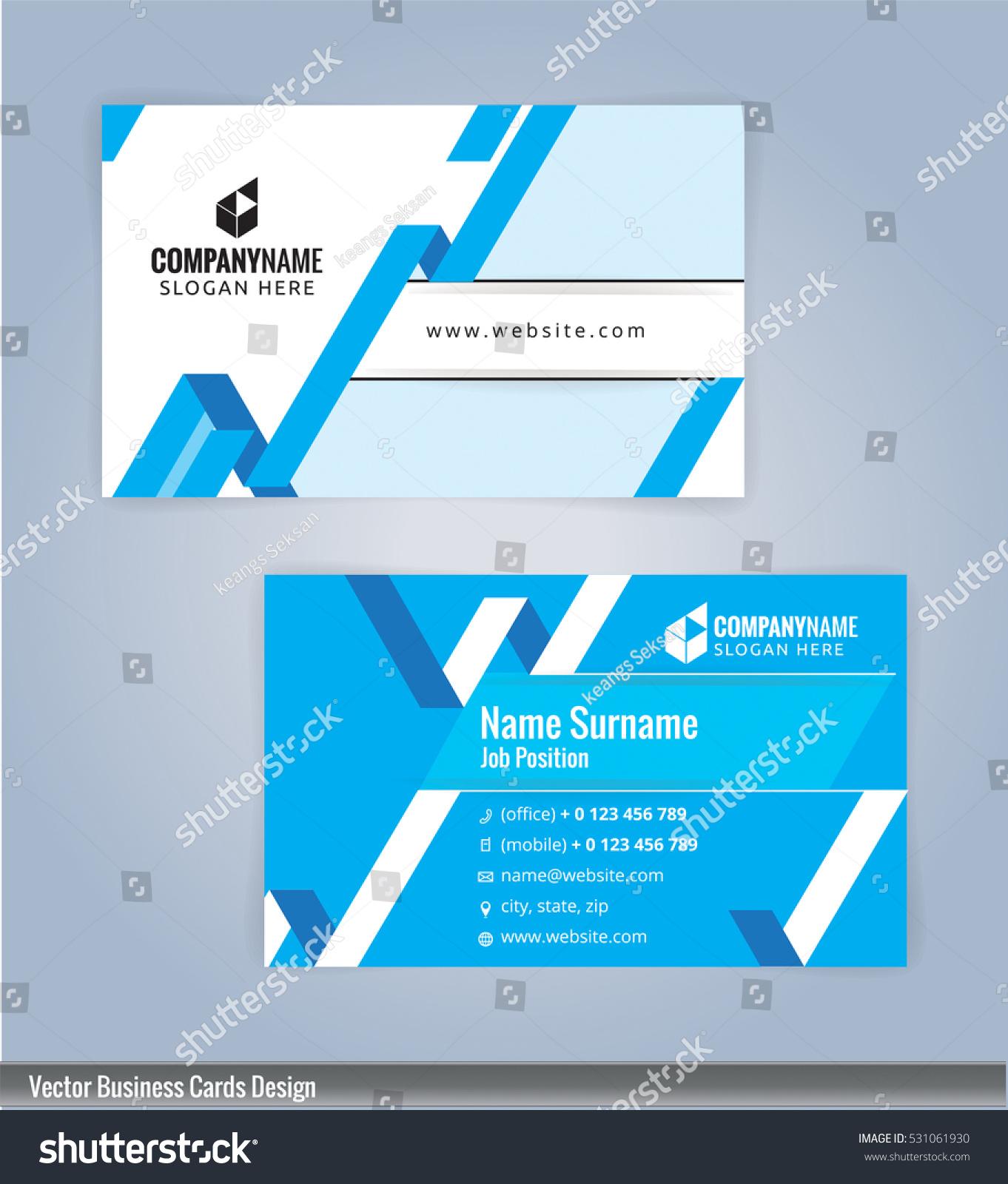 Modern Creative Clean Business Card Design Stock Vector 531061930 ...