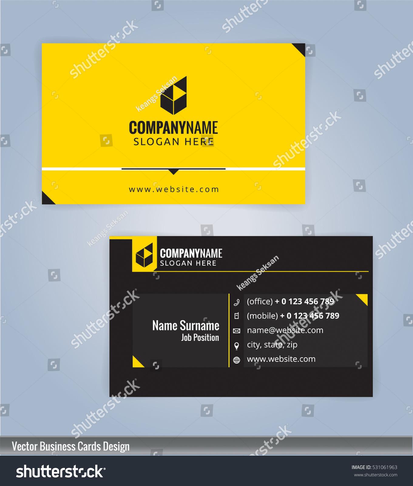 Modern Creative Clean Business Card Design Stock Vector 531061963 ...