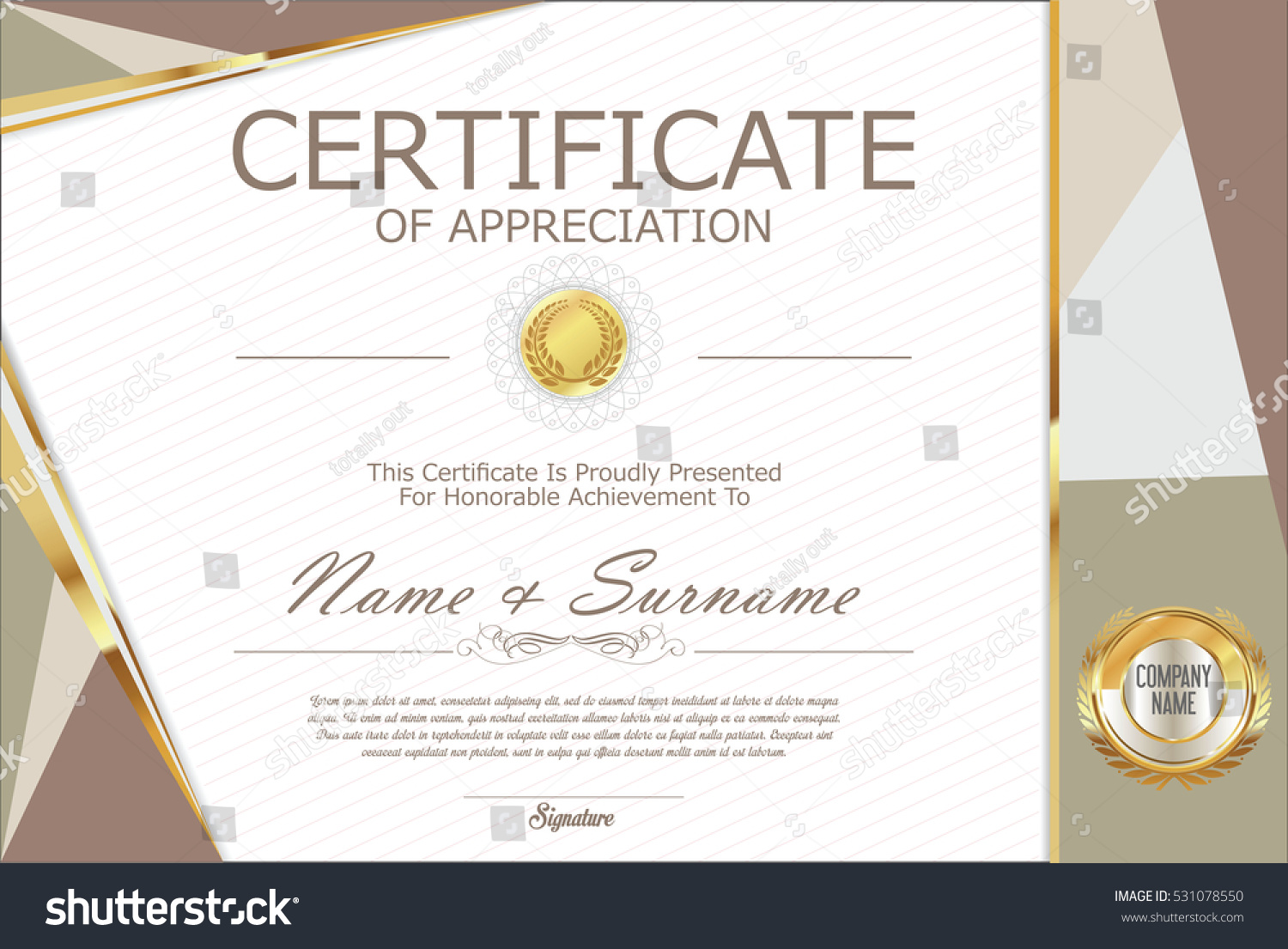 certificate of recognition free template
