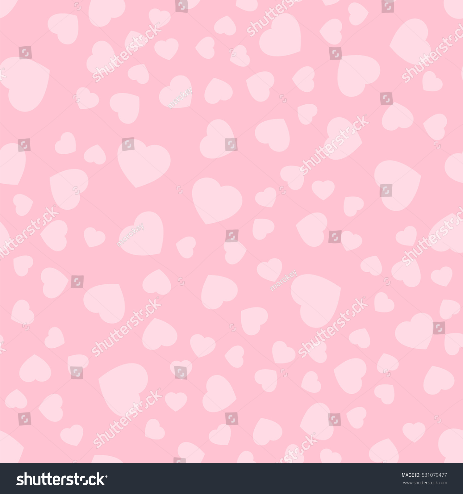 seamless patterns pink hearts valentines day stock vector