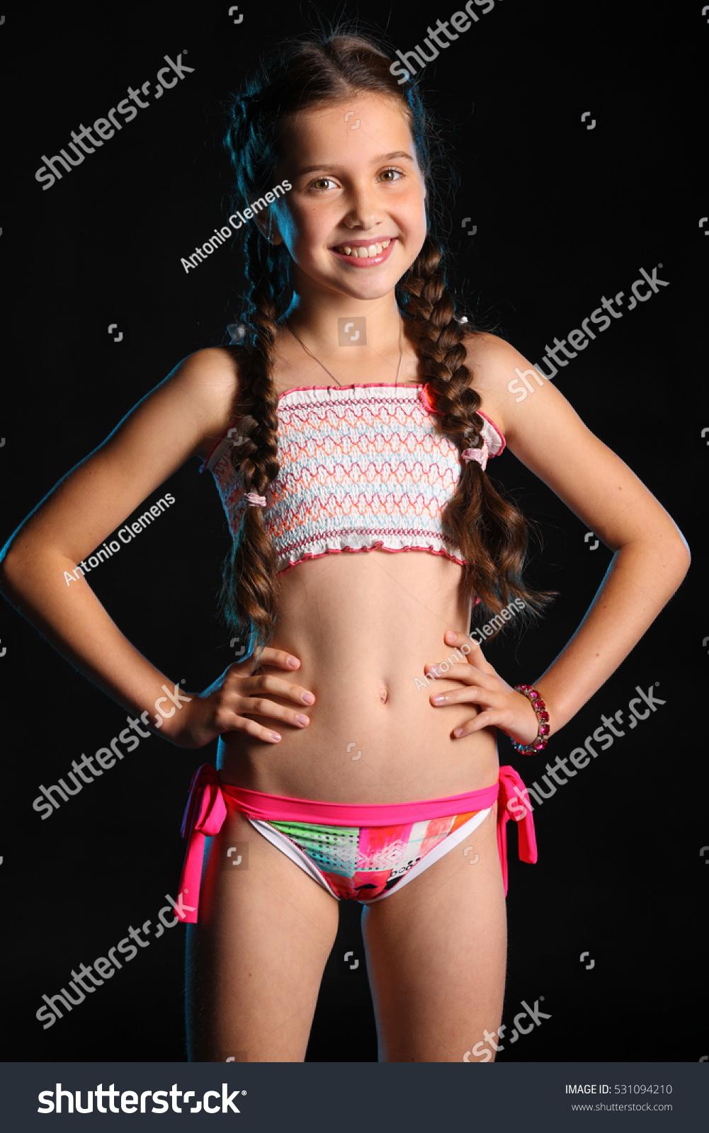 Portrait Teen Girl Bathing Suit On Stock Photo 531094210