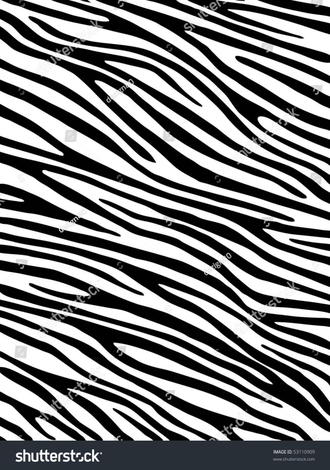 Zebra Background Stock Vector 53110909 Shutterstock