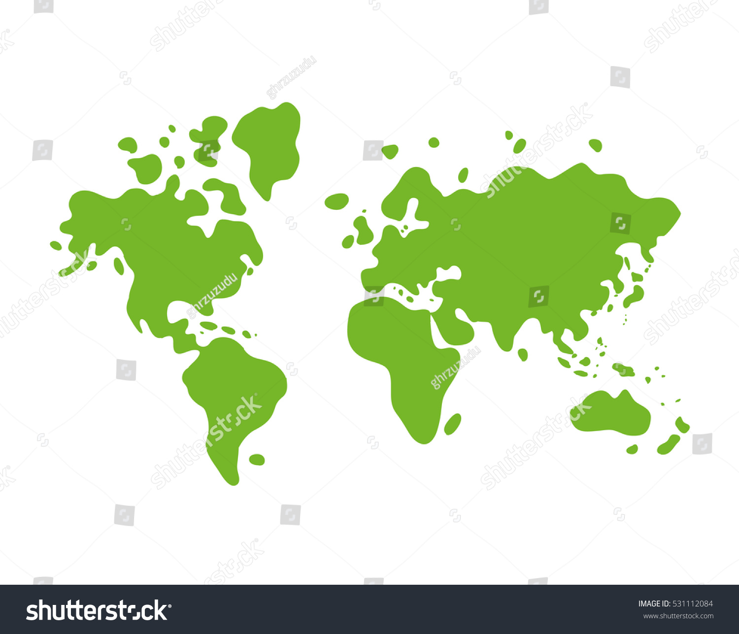 Green world map icon stock vector 531112084 shutterstock green world map icon gumiabroncs Gallery