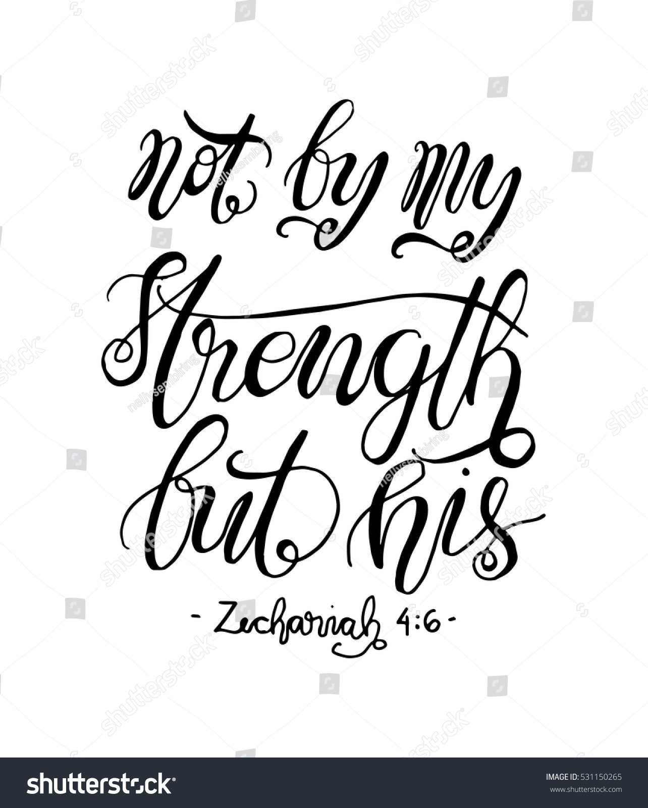 Not by my strength his bible stock vector