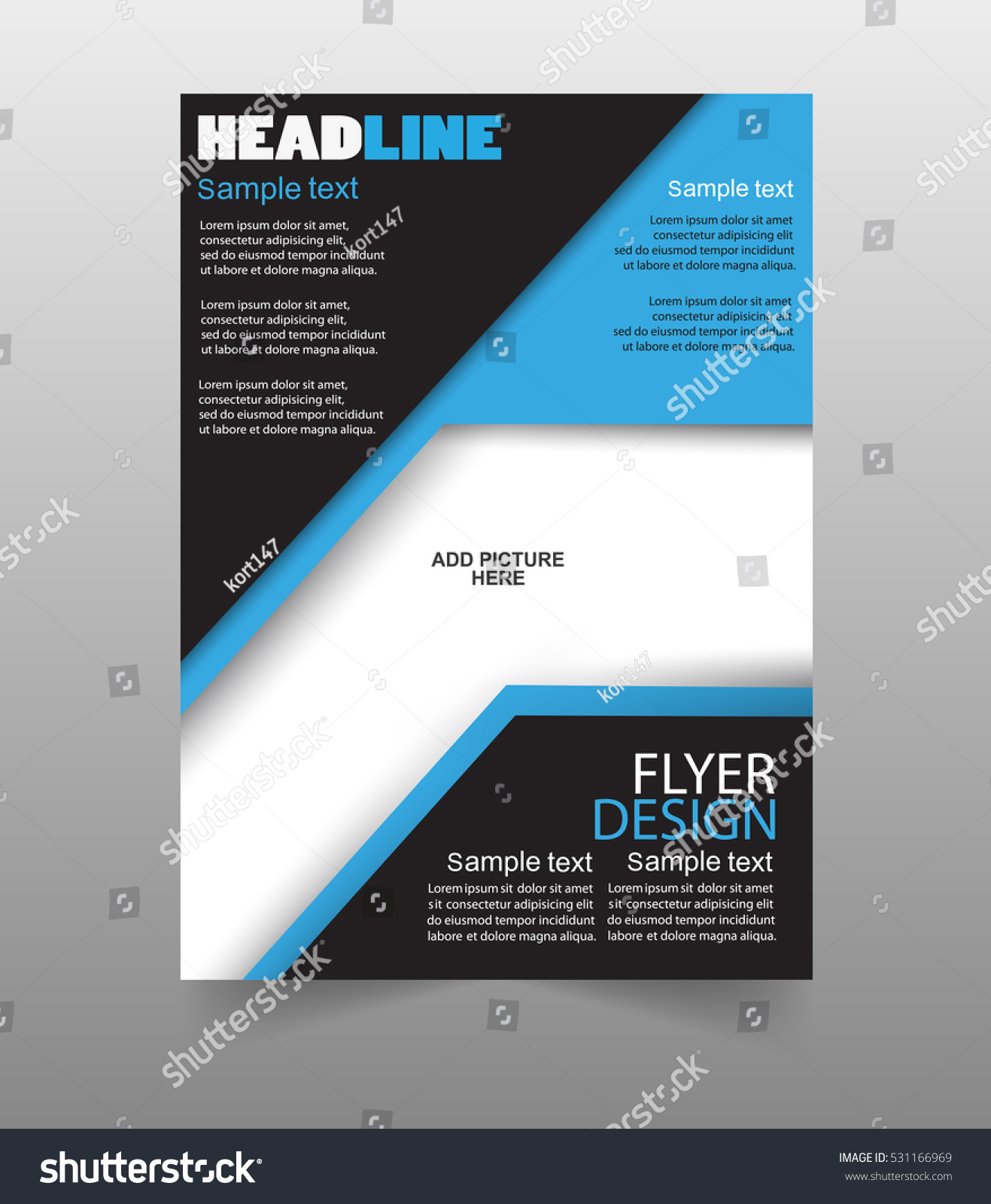 minimal modern business flyer brochure design template 433379983 flyers design template vector brochure report business magazine poster can be use for publishing