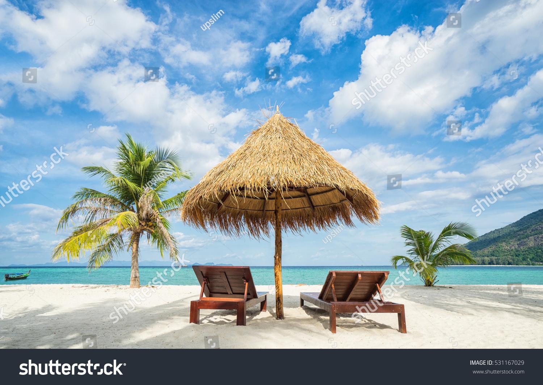Tropical Beach Chairs Vacation Tropical Coun...