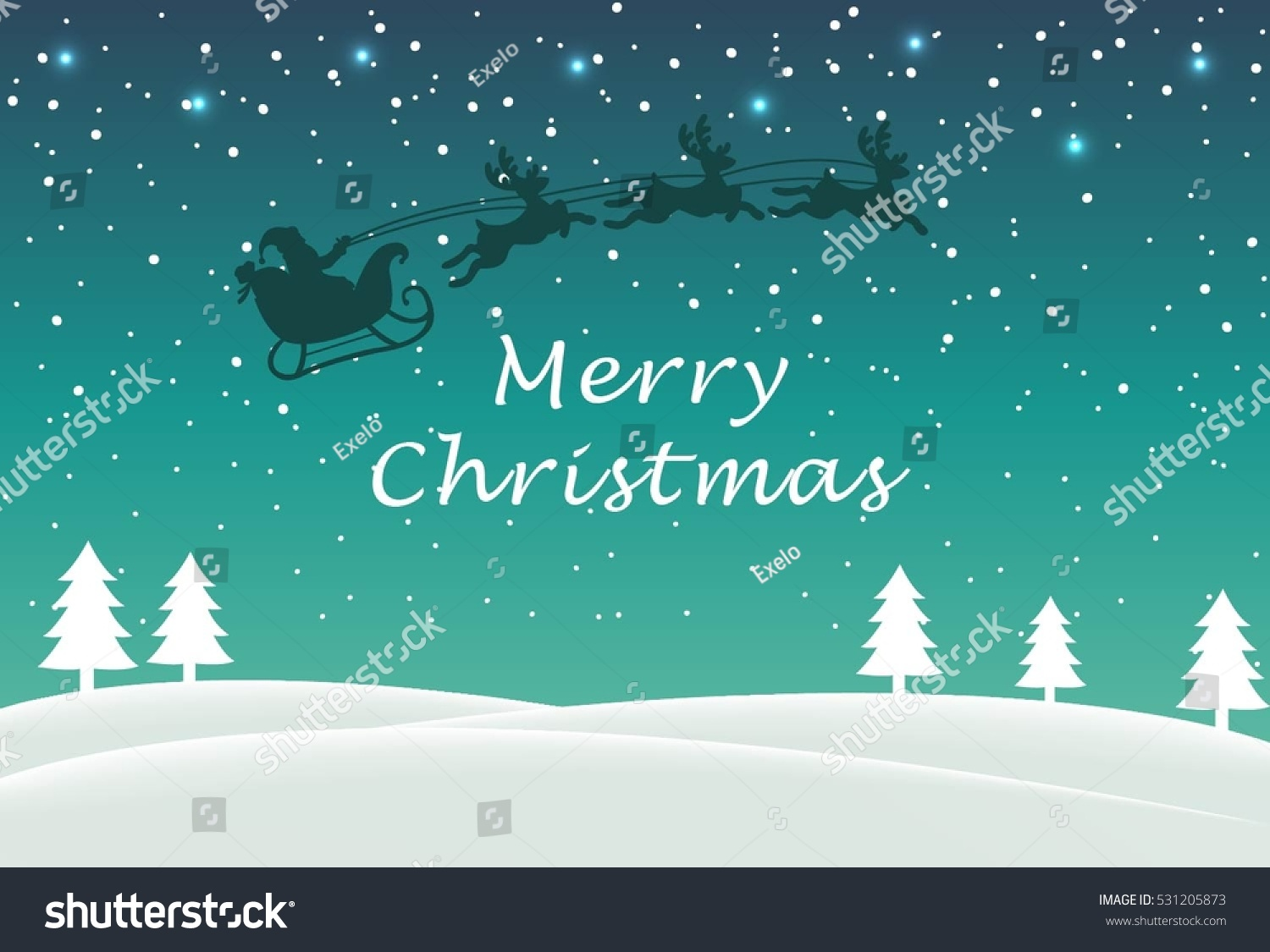 Cool Christmas Greetings Message Background Winter Stock Vector