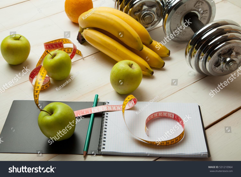 Diet Plan Menu Program Weight Loss Stock Photo 531210964 ...