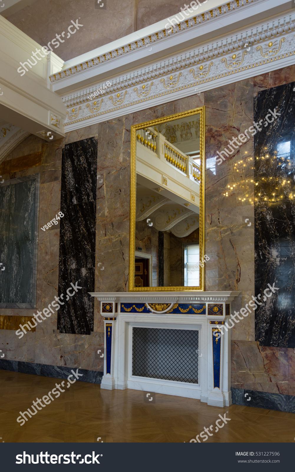 saint petersburg russia october 1 2016 interior marble gallery george