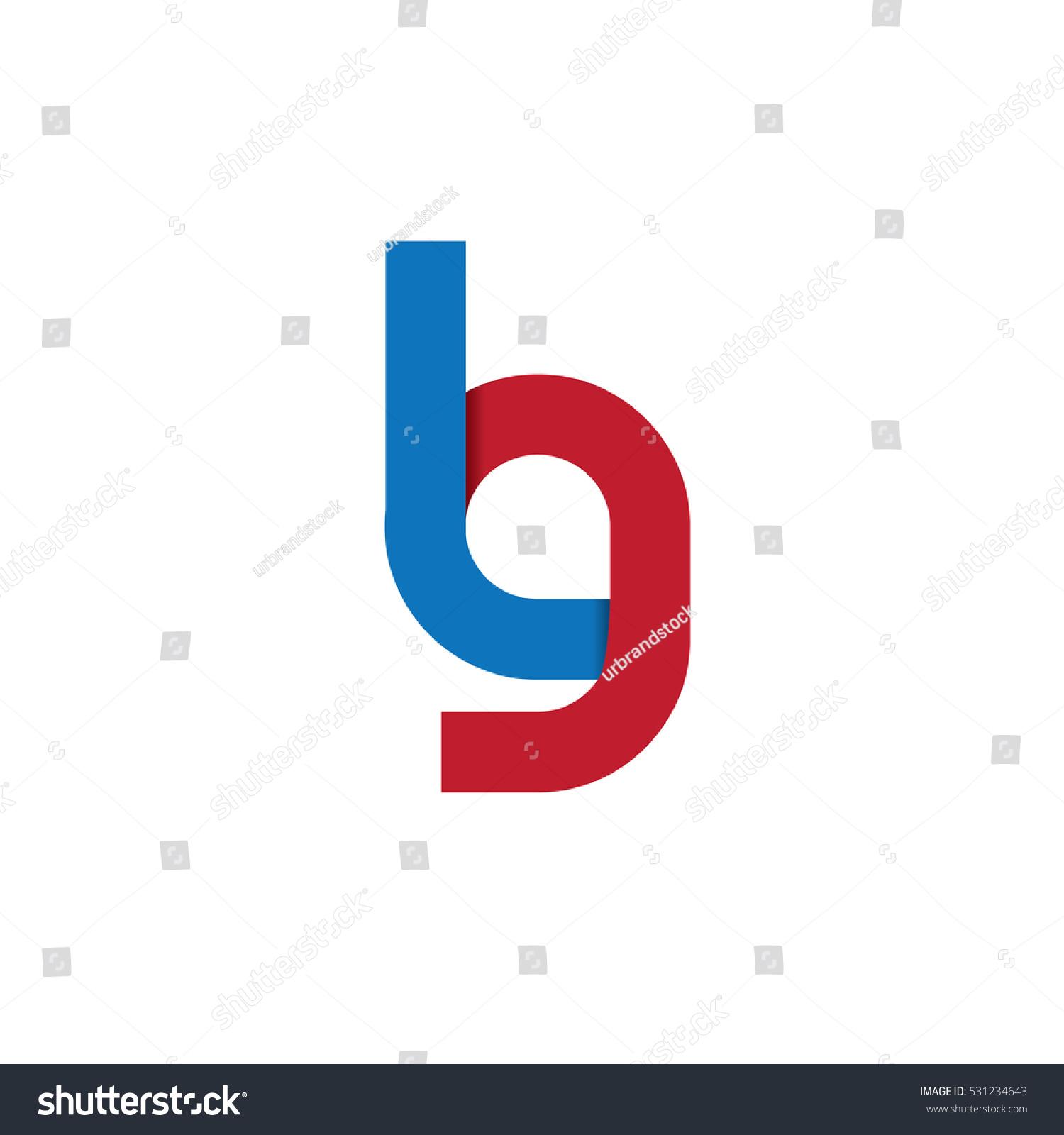 Initial Letter Lg Design Logo Blue Stock Vector Royalty Free
