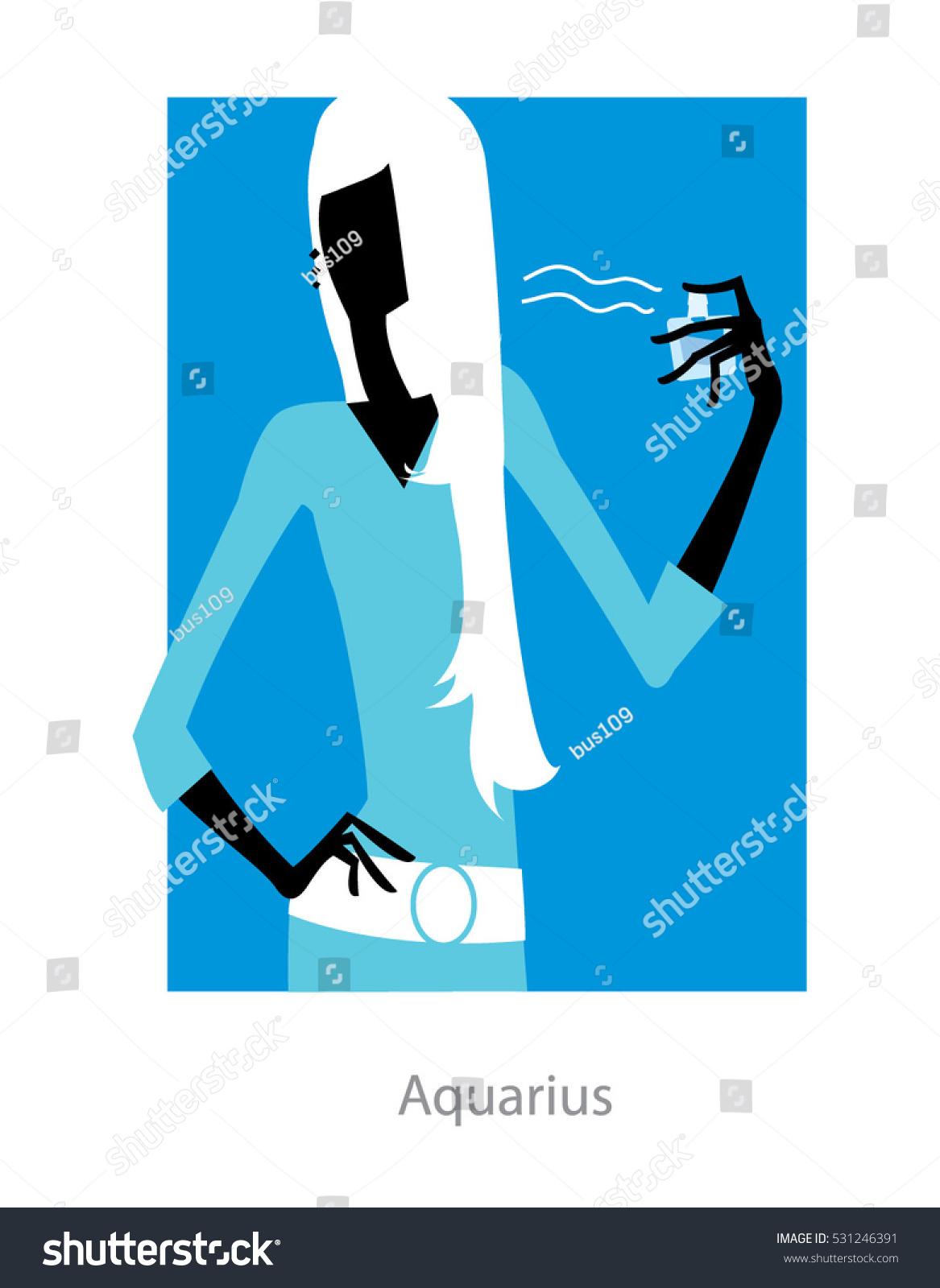 Aquarius horoscope sign female spraying perfume stock vector aquarius horoscope sign female spraying perfume vector illustration buycottarizona