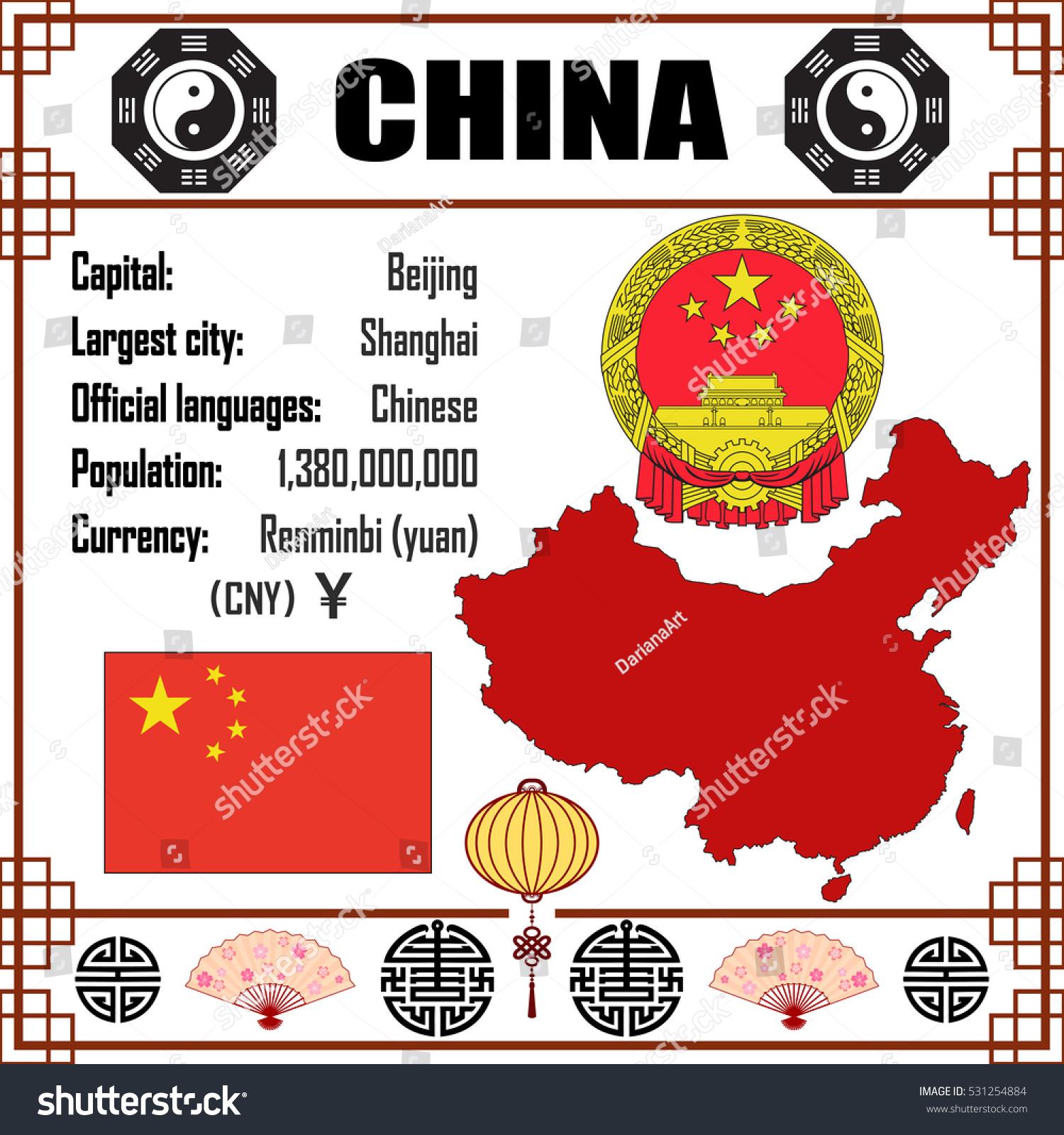 China Set Map Signs Symbols Stock Vector Royalty Free 531254884