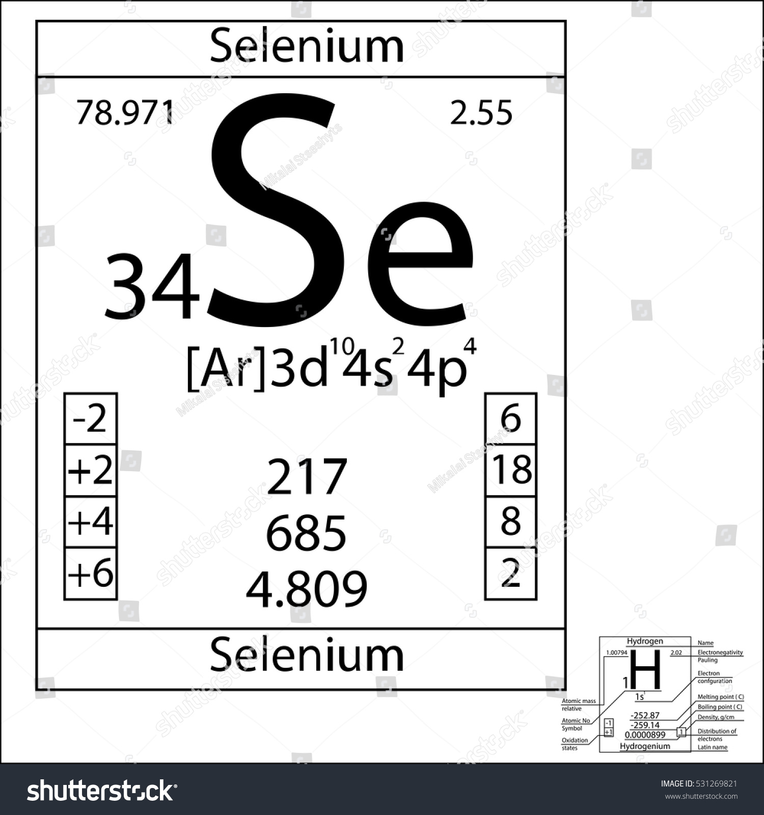 Periodic table element selenium basic properties stock vector the periodic table element selenium with the basic properties gamestrikefo Images