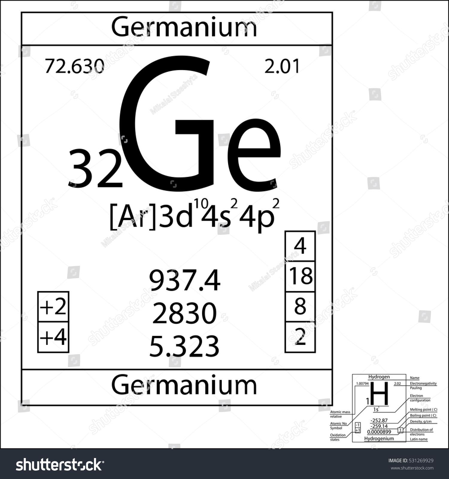 Periodic table element germanium basic properties stock vector the periodic table element germanium with the basic properties gamestrikefo Gallery
