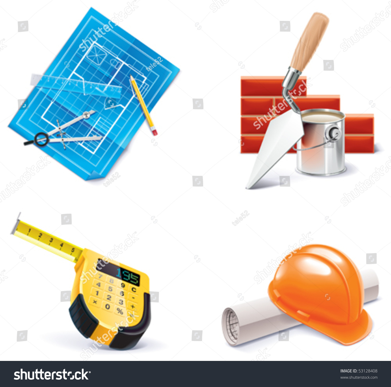 Vector homebuilding renovating icon set part 3 for Homebuilding com