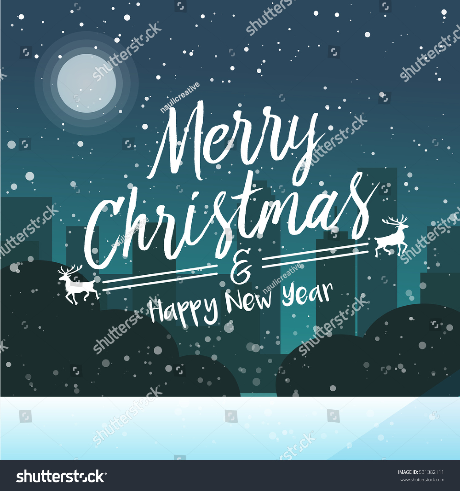 Square Merry Christmas Greetings Card Suitable Stock Vector Royalty