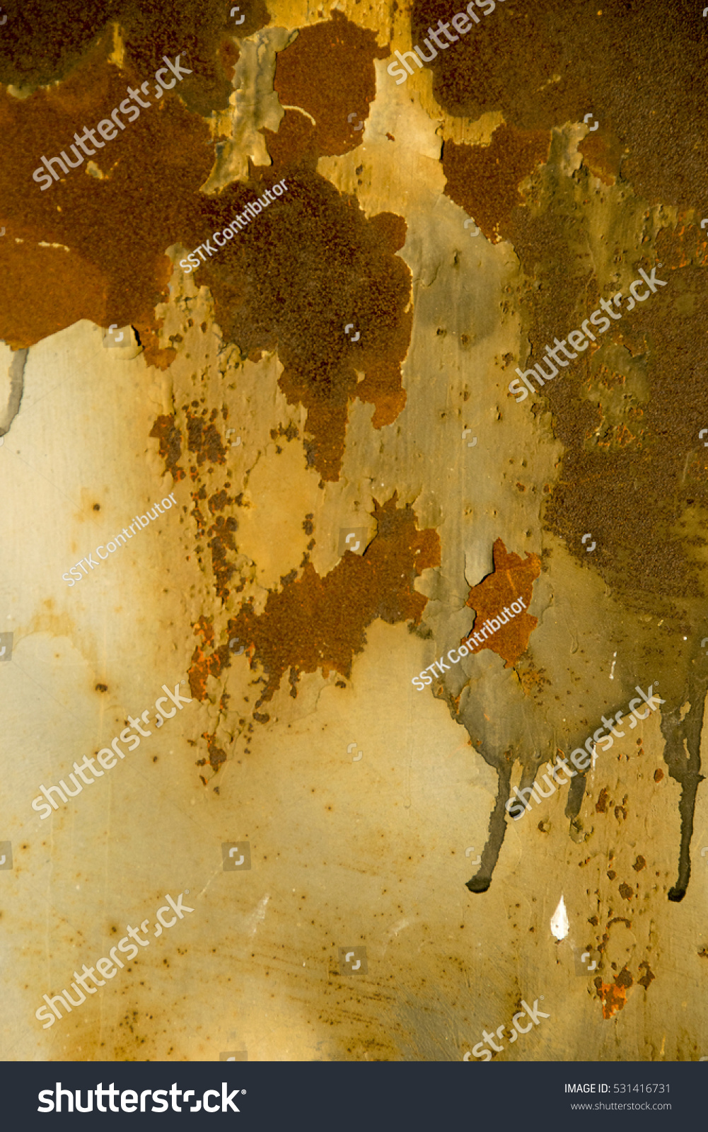 Corroded white metal background. Rusted white painted metal wall ...
