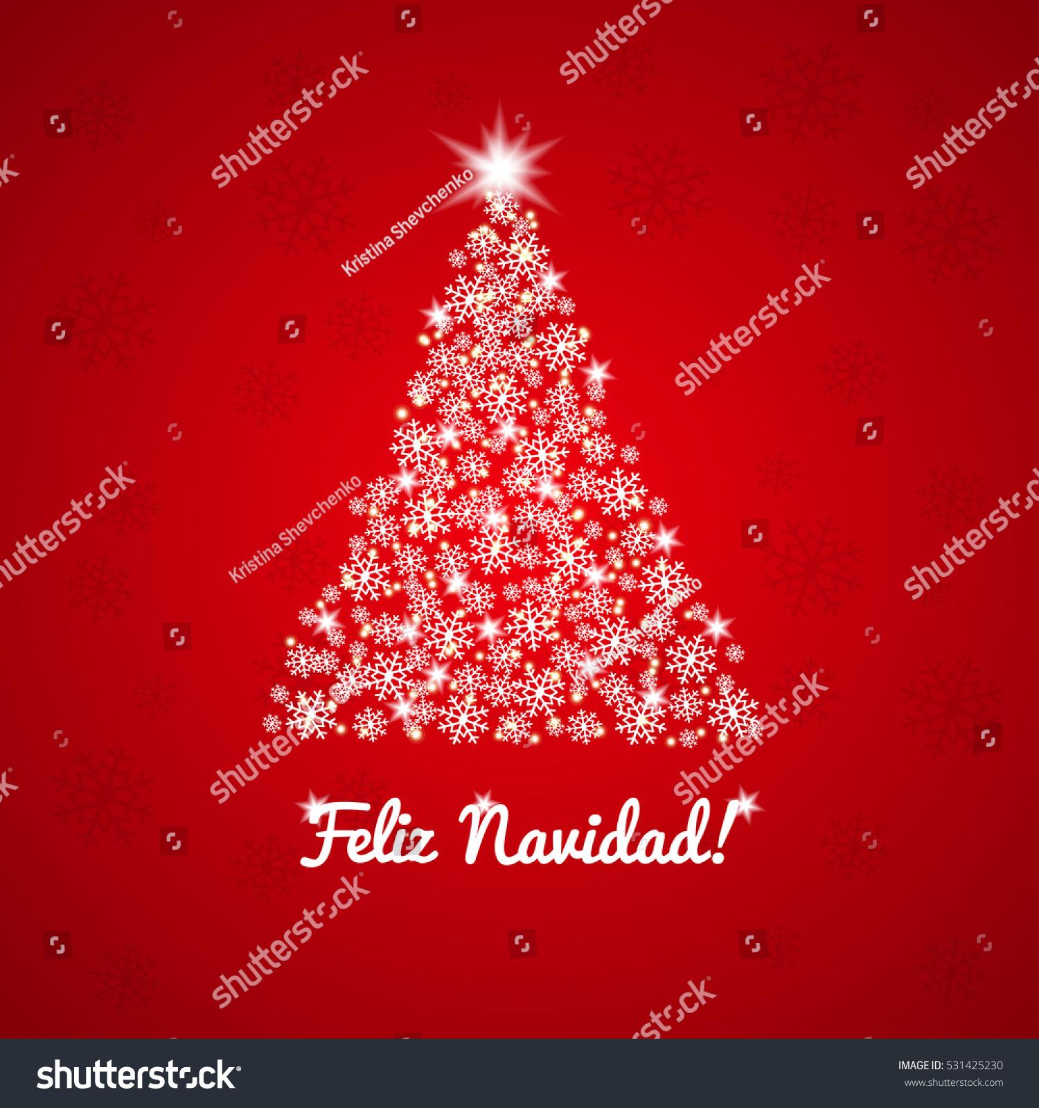 Feliz navidad christmas vector greeting card stock vector 531425230 feliz navidad christmas vector greeting card spanish greeting m4hsunfo