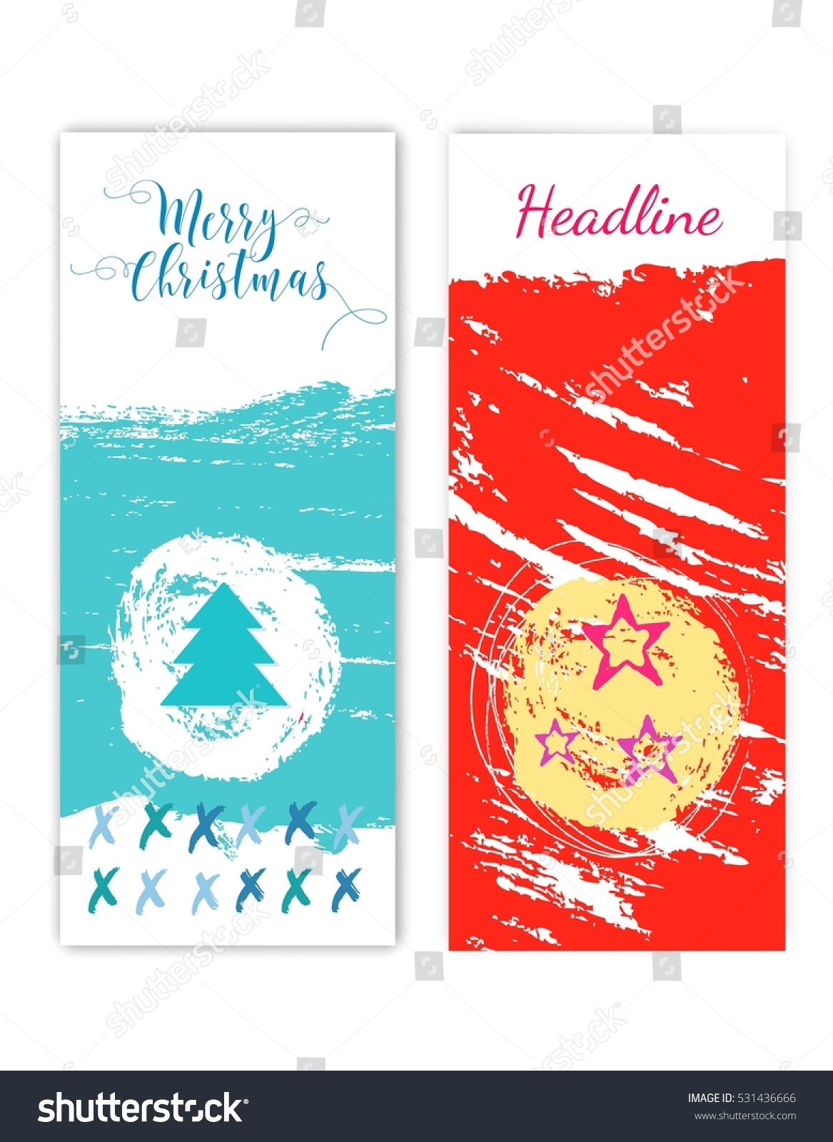 colorful merry christmas flyer posters set template for. Black Bedroom Furniture Sets. Home Design Ideas