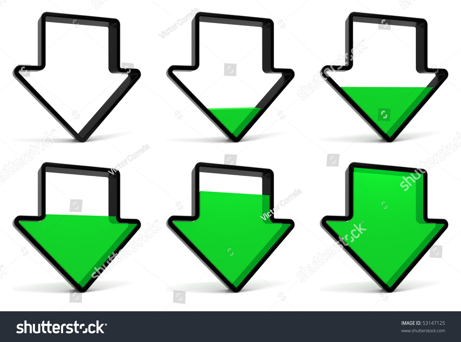 Royalty Free Stock Illustration Of Download Symbol Start Phase 1