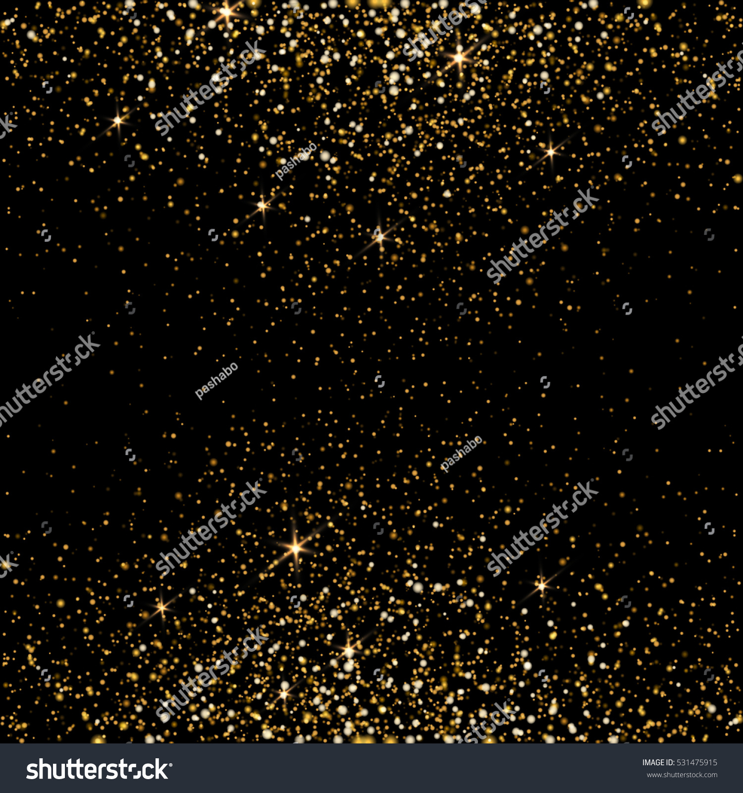 Gold glitter bright vector transparent background golden sparkles - Golden Light Effect Star Burst Light With Golden Sparkles Bokeh Defocused Background Vector