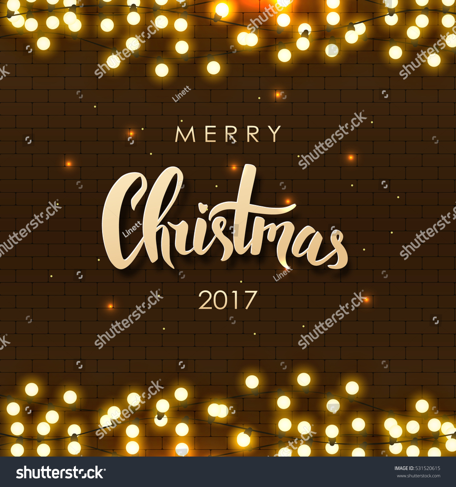 Merry christmas lettering calligraphy light