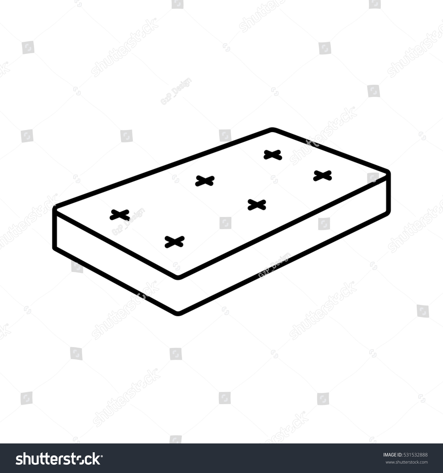 mattress icon png. Mattress Icon - Vector Illustration. Png