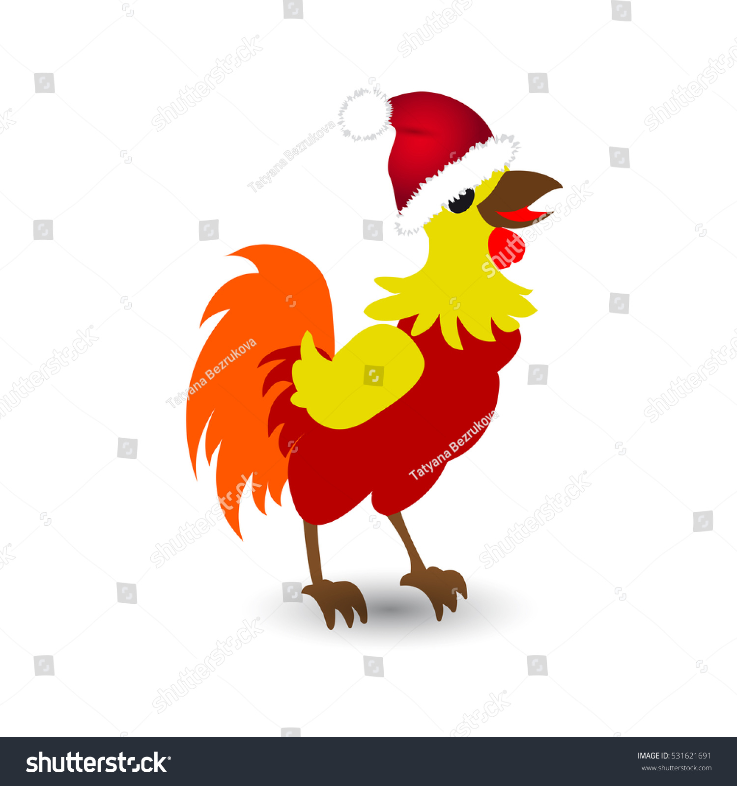 Funny Cock Pics funny cock santa hats on white | holidays, objects stock image