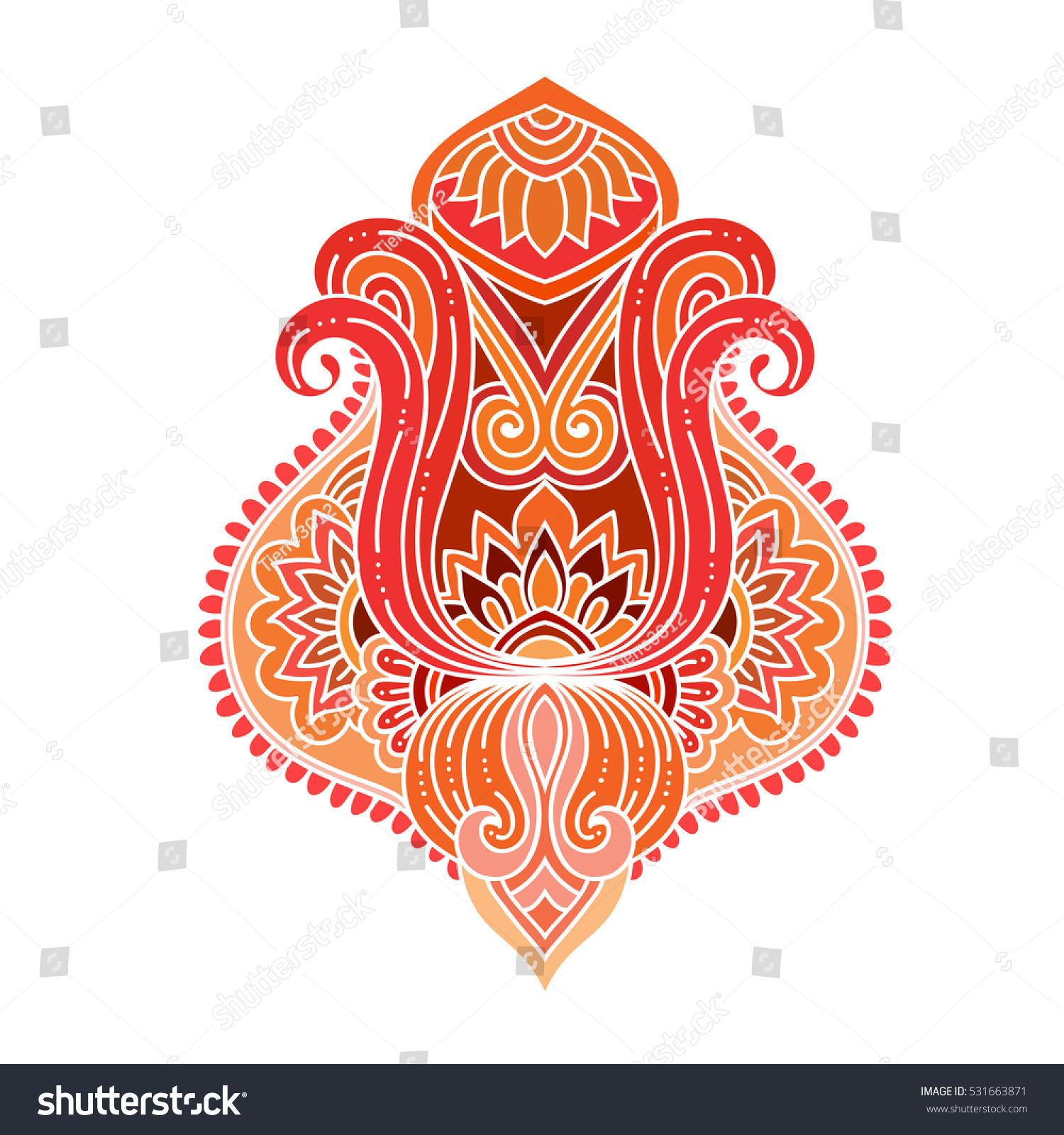 Stylized vector ornamental lotus flower ethnic stock photo photo stylized vector ornamental lotus flower ethnic art patterned indian paisley hand drawn illustration izmirmasajfo