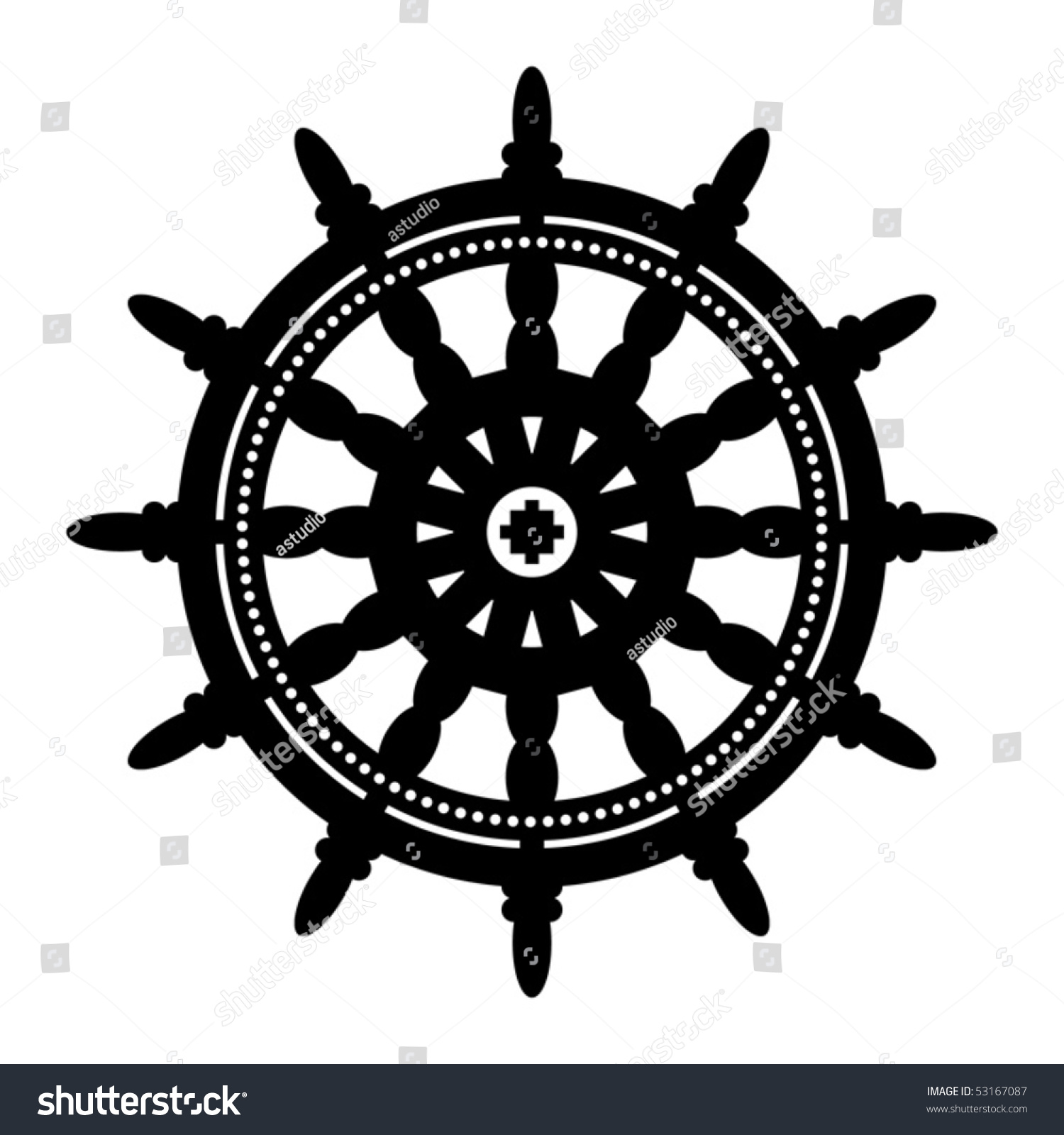 Pirate Ship Wheel Vector
