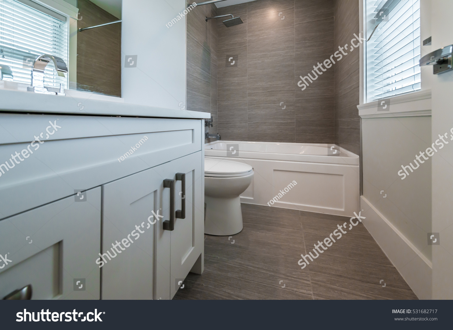 Nicely Decorated Modern Washroom Bathroom Toilet Stock Photo ...
