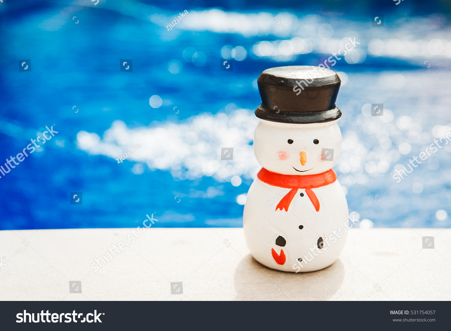 Wooden Christmas Decoration Blue Background Suitable Stock Photo ...