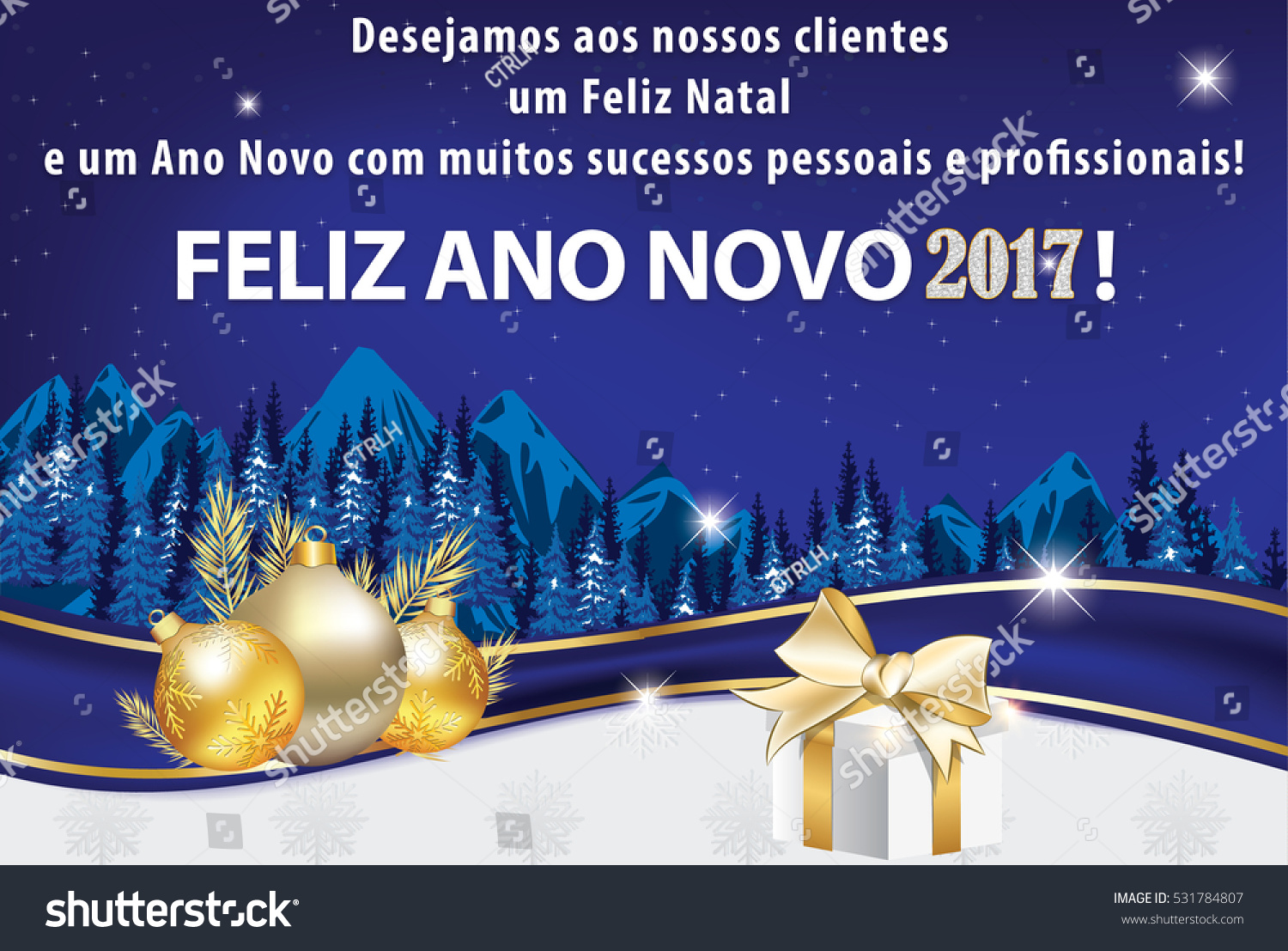 Business portuguese new year greeting card stock illustration business portuguese new year greeting card for clients we wish all our clients merry christmas kristyandbryce Image collections