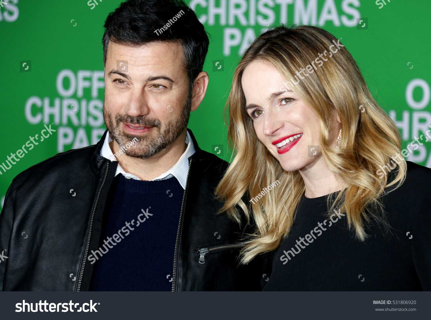 Jimmy Kimmel Molly Mc Nearney Los Angeles Stock Photo (Edit Now ...