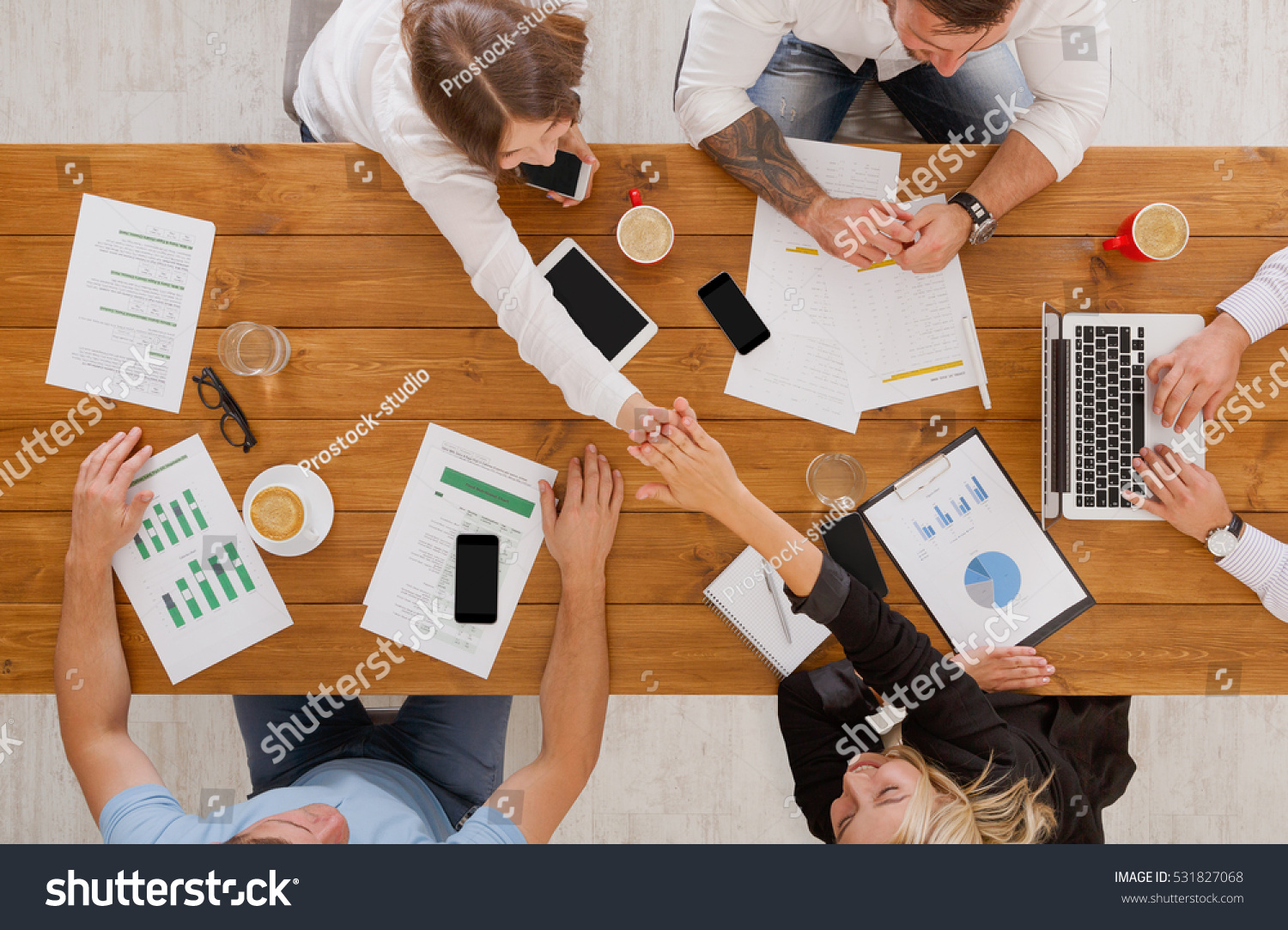 Royalty Free Agreement At Business Meeting Busy 531827068 Stock